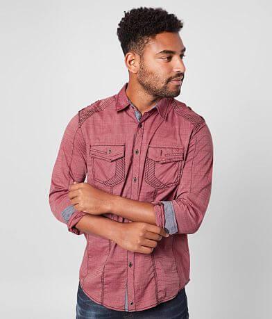 Buckle Black Solid Standard Stretch Shirt