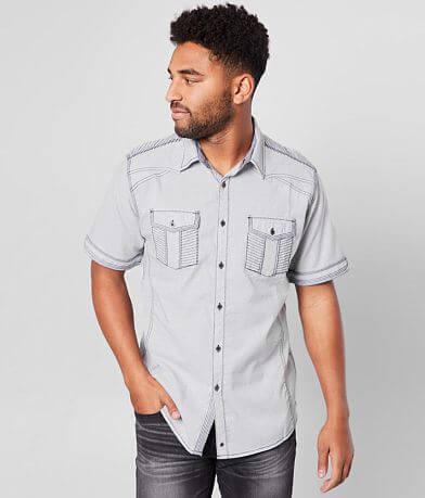 Buckle Black Marled Athletic Stretch Shirt