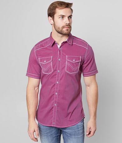 Buckle Black Pinstripe Athletic Stretch Shirt