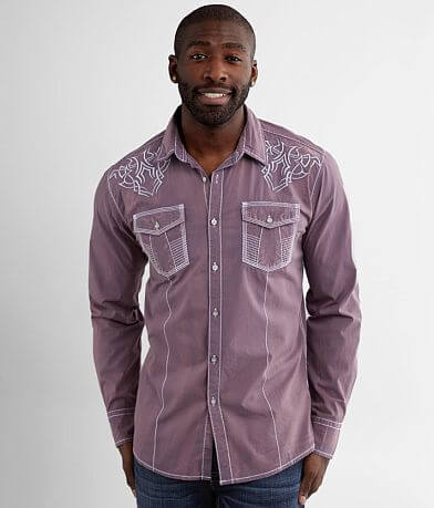 Buckle Black Washed Athletic Stretch Shirt