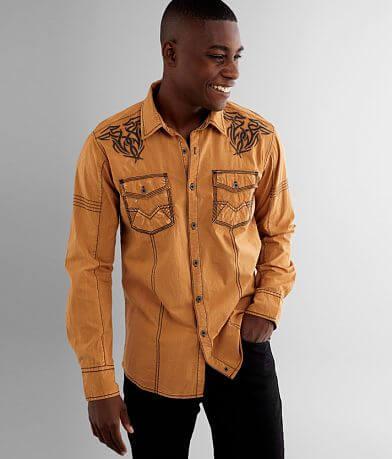 Buckle Black Washed Standard Stretch Shirt