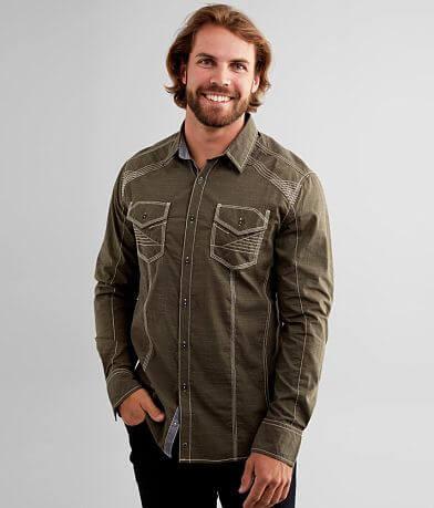Buckle Black Athletic Stretch Shirt