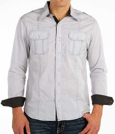 Buckle Black Polished Back Shirt