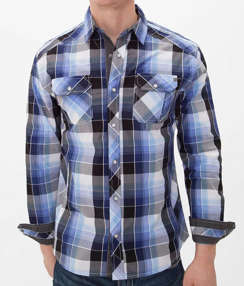 Buckle Black Polished Fools Shirt front view