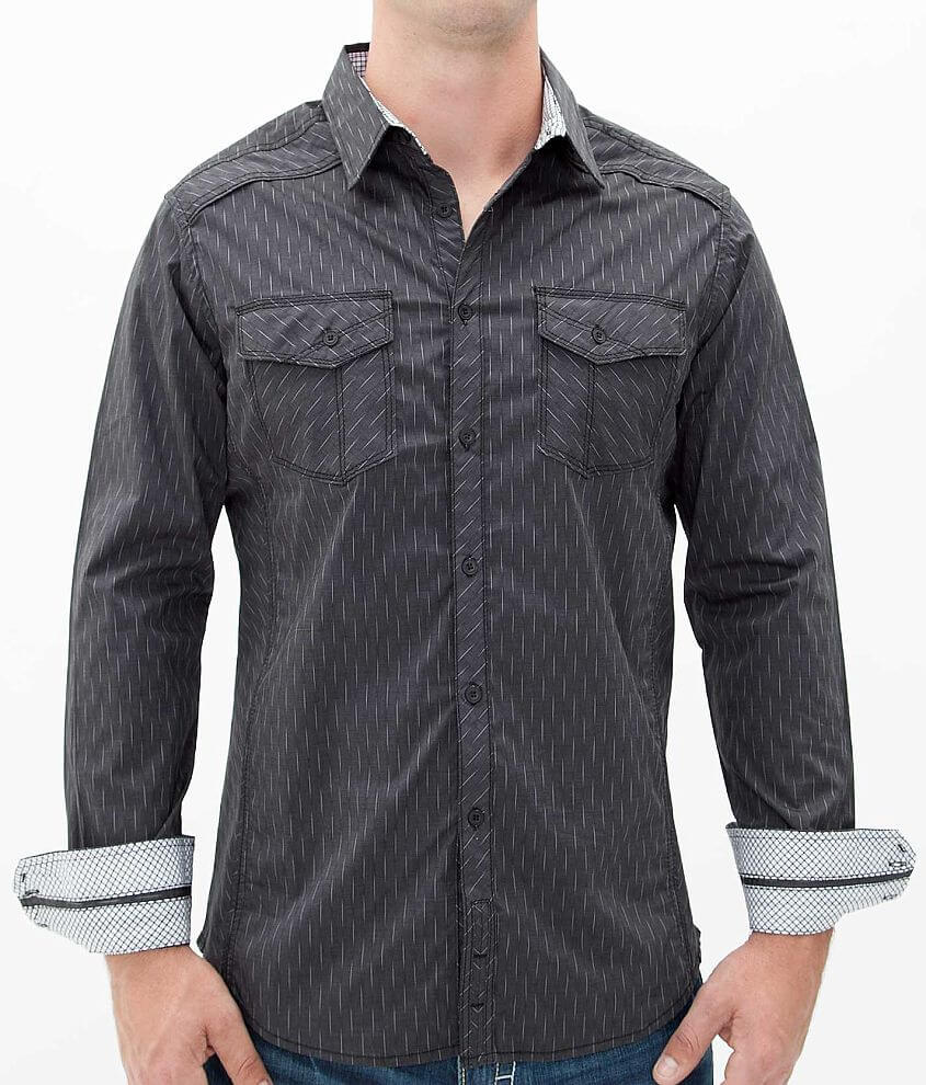 Buckle Black Polished Live Shirt front view
