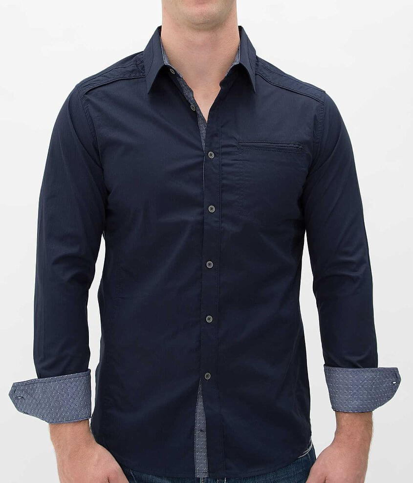 Buckle Black Polished Hey Shirt front view