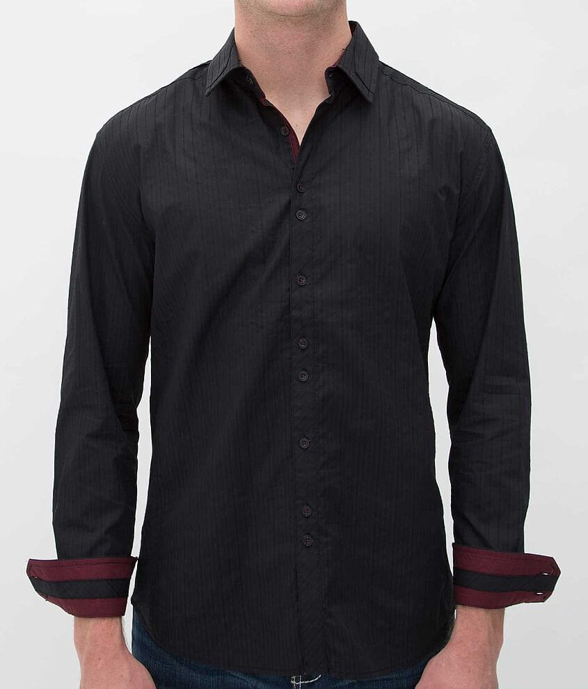 Buckle Black Polished Happiness Shirt front view