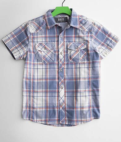Boys - BKE Washed Plaid Shirt