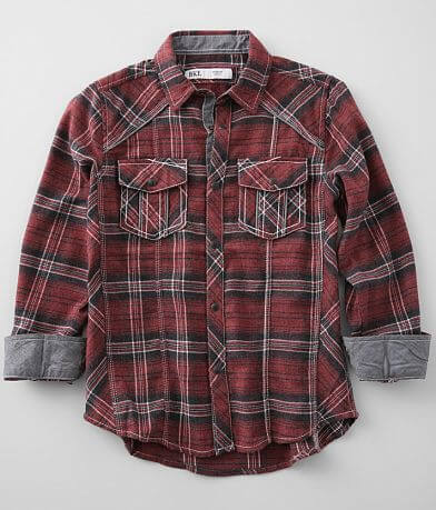Boys - BKE Flannel Plaid Shirt
