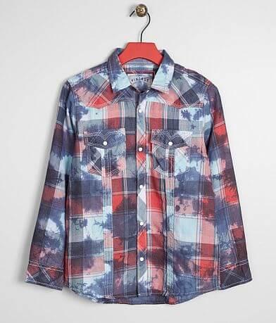Boys - BKE Vintage Washed Plaid Shirt