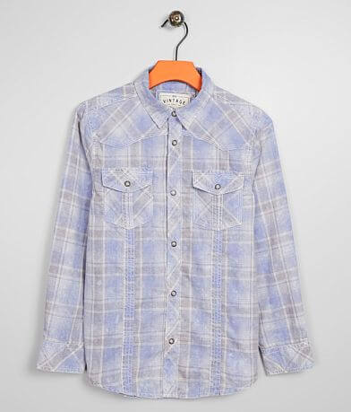 Boys - BKE Vintage Washed Plaid Shirt