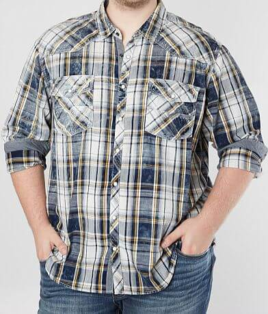 BKE Vintage Plaid Athletic Shirt - Big & Tall