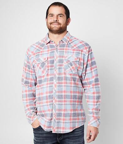BKE Vintage Brushed Plaid Shirt - Big & Tall