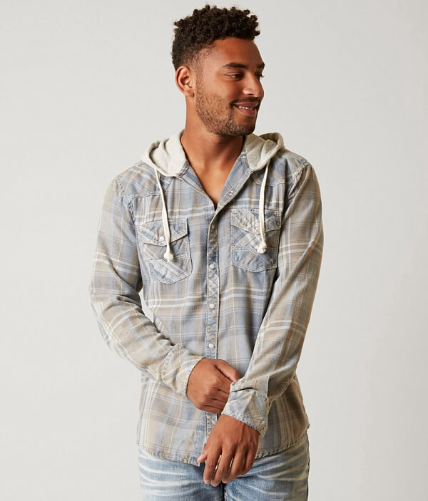Vintage BKE Bay Horse Shirt Flannel Hooded qOOAdx