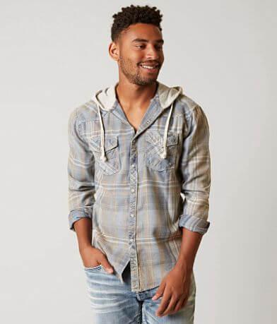 BKE Vintage Horse Bay Flannel Hooded Shirt