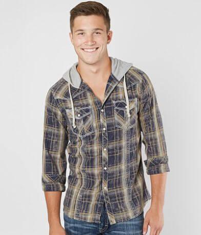 BKE Vintage Undone Hooded Shirt