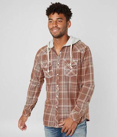 BKE Vintage Midland Hooded Shirt
