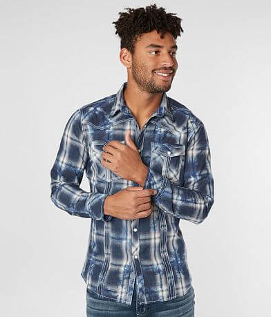 BKE Vintage Plaid Tailored Shirt