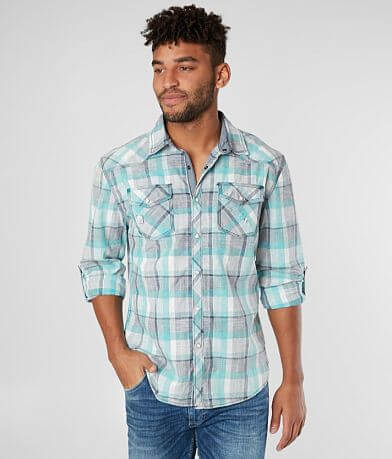 BKE Vintage Plaid Relaxed Shirt