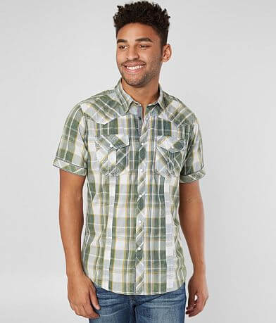 BKE Vintage Plaid Standard Shirt