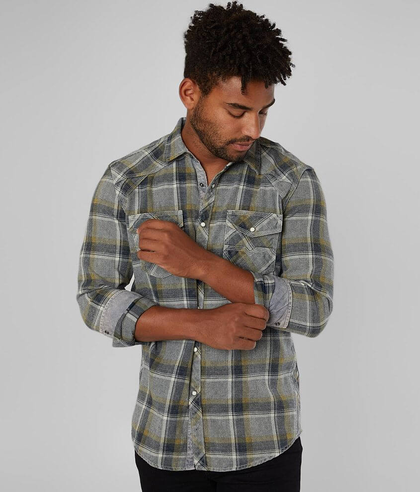 BKE Vintage Flannel Athletic Shirt front view