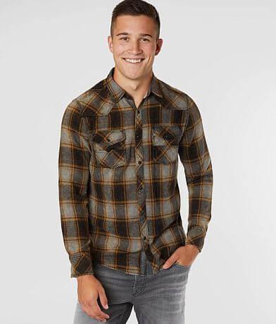 BKE Vintage Brushed Plaid Standard Shirt