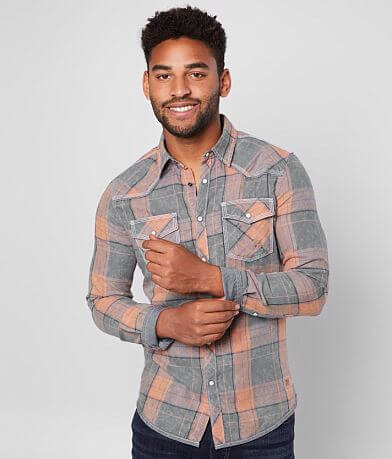 BKE Vintage Washed Plaid Tailored Shirt
