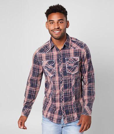 BKE Vintage Plaid Standard Shirt