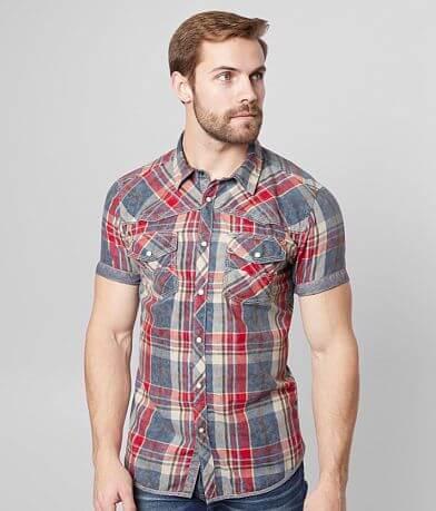 BKE Vintage Plaid Tailored Shirt