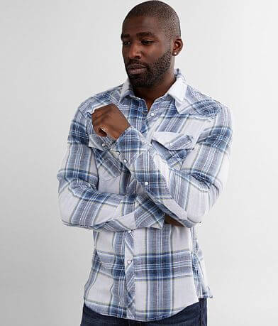 BKE Vintage Brushed Plaid Athletic Shirt