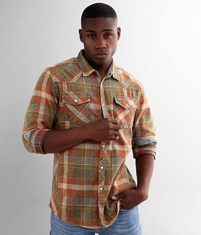 BKE Vintage Plaid Athletic Flannel Shirt