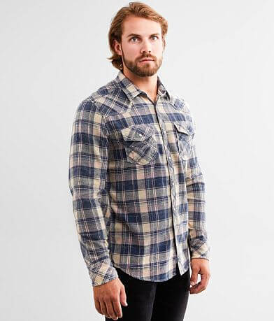 BKE Vintage Washed Plaid Standard Flannel Shirt