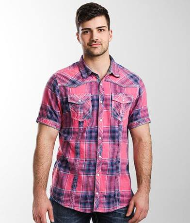 BKE Vintage Washed Plaid Standard Shirt