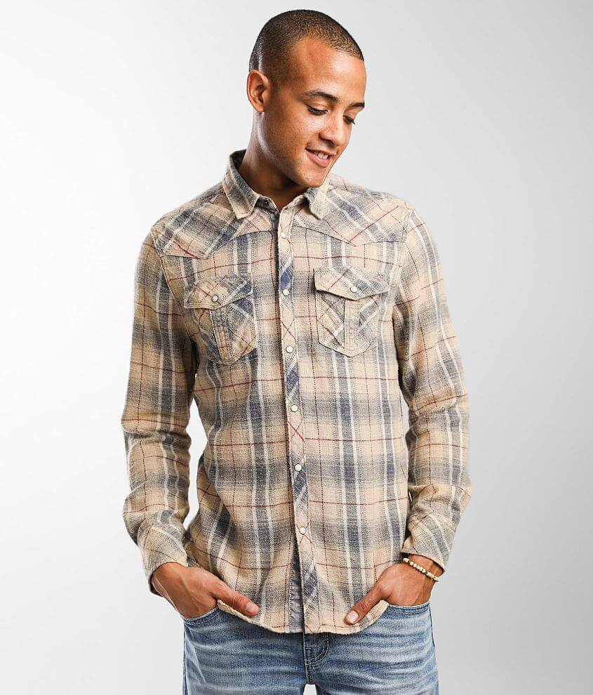 BKE Vintage Flannel Standard Shirt front view