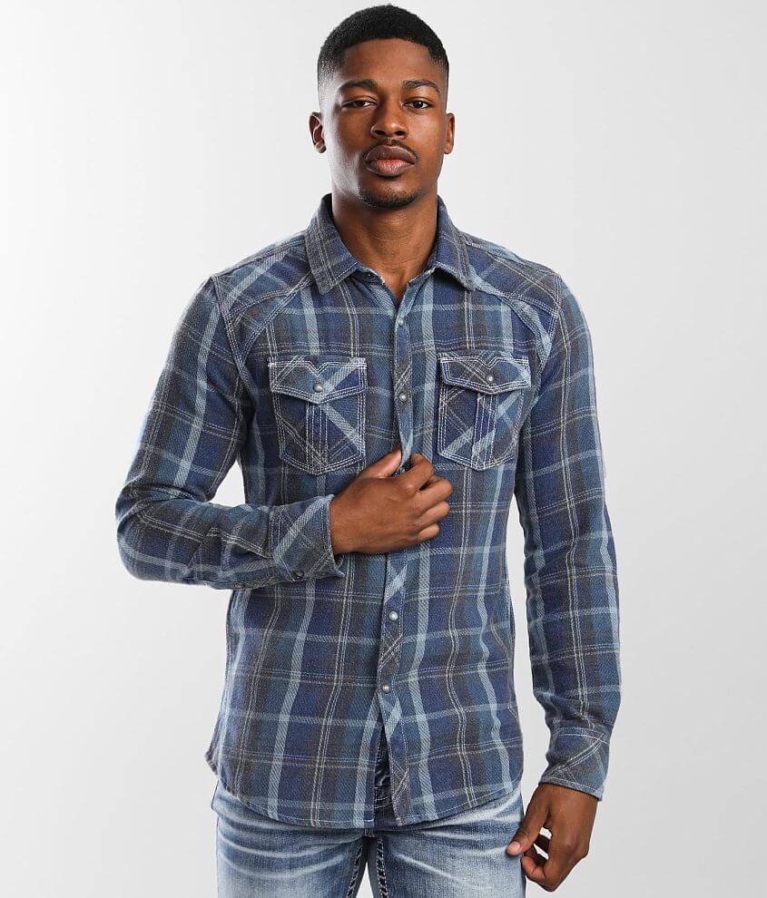 BKE Vintage Flannel Tailored Shirt front view