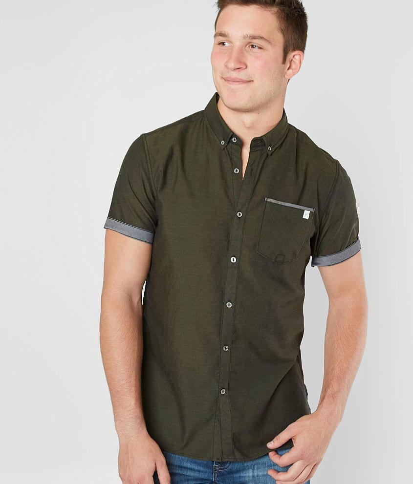 Departwest Woven Solid Shirt front view