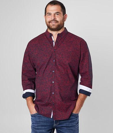 J.B. Holt Paisley Stretch Shirt - Big & Tall