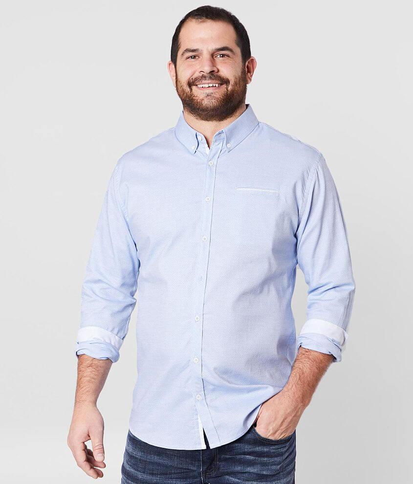 J.B. Holt Jacquard Stretch Shirt - Big & Tall front view