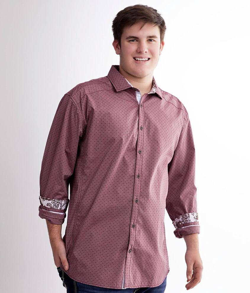 J.B. Holt Printed Stretch Shirt - Big & Tall front view