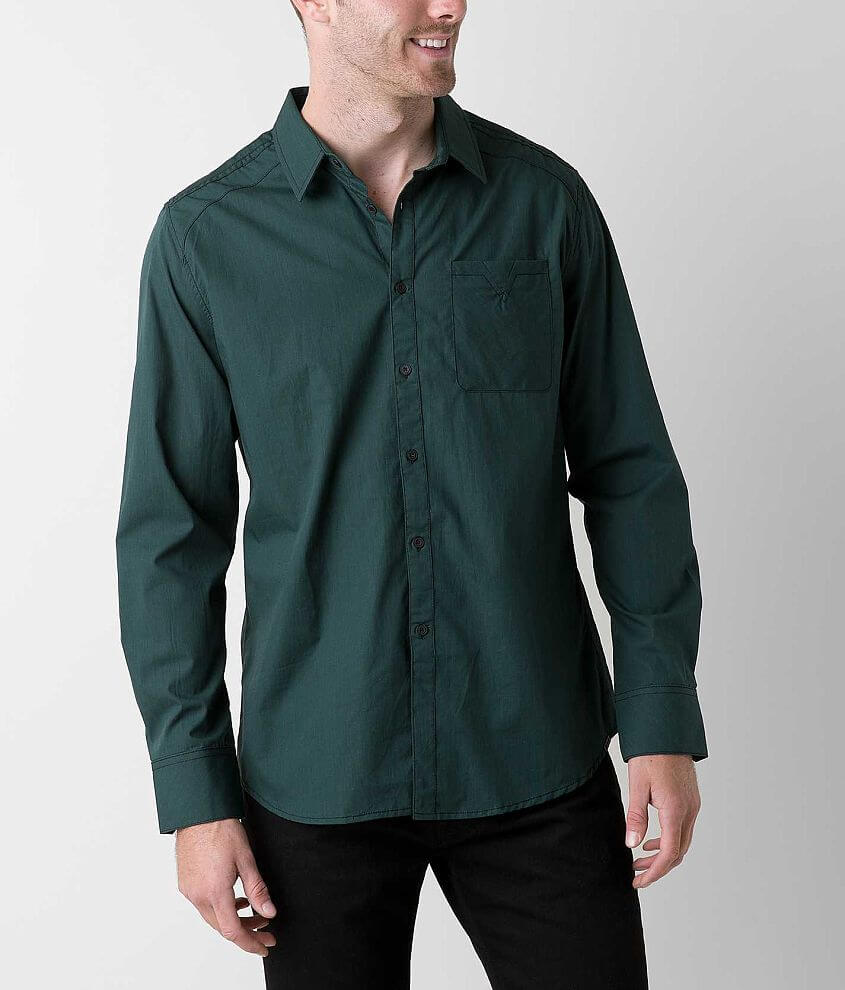 Jb Holt The Jefferson Stretch Shirt Mens Shirts In Hunter Green