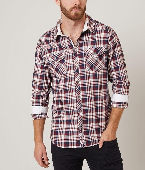 J Shirt Holt B B J J Holt Holt Plaid Shirt Plaid B fBafxO