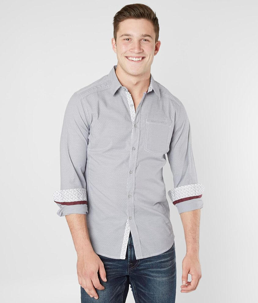J.B. Holt Woven Tailored Stretch Shirt front view