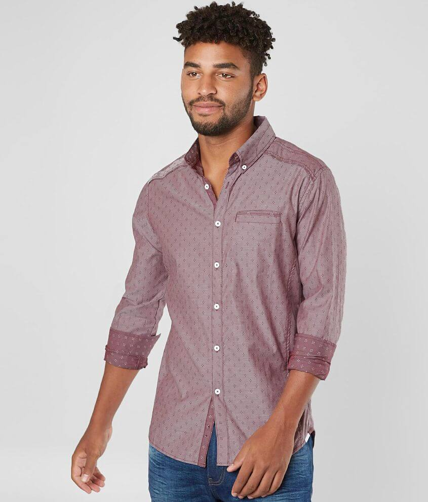 J.B. Holt Jacquard Tailored Stretch Shirt front view