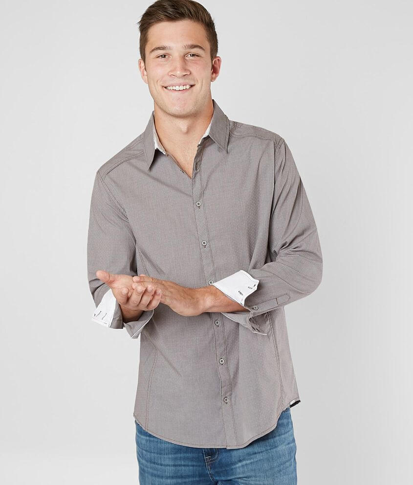 J.B. Holt Solid Standard Stretch Shirt front view