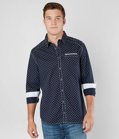 J.B. Holt Geo Print Stretch Shirt