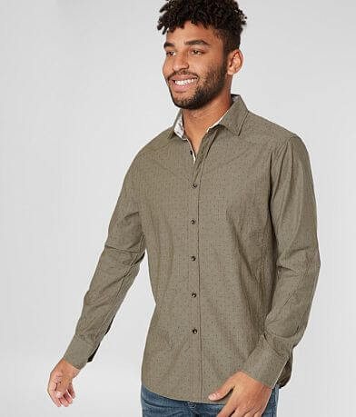 J.B. Holt Geo Jacquard Athletic Stretch Shirt