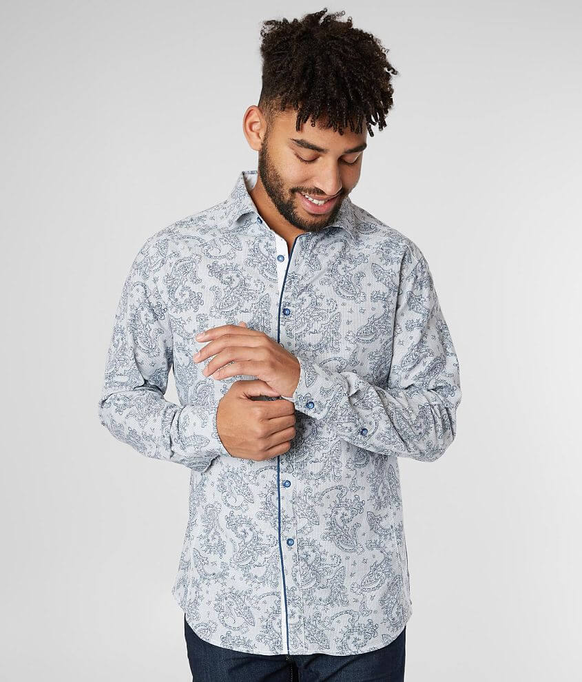 J.B. Holt Paisley Athletic Stretch Shirt front view