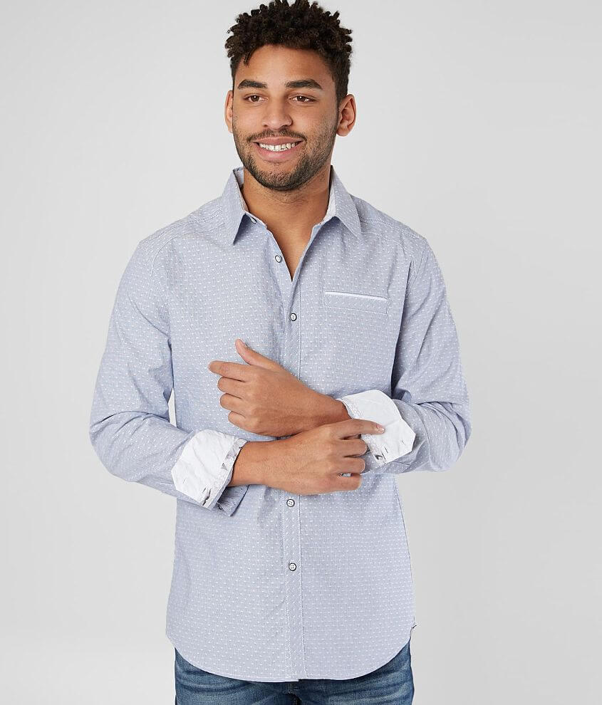 J.B. Holt Dot Athletic Stretch Shirt front view