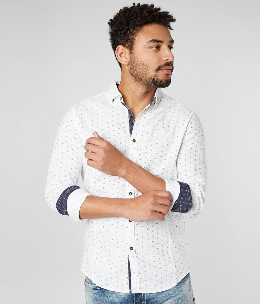 J.B. Holt Woven Tailored Shirt front view