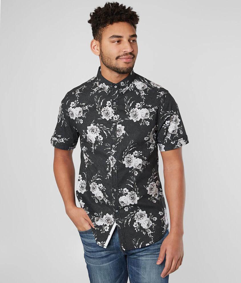 J.B. Holt Floral Standard Stretch Shirt front view